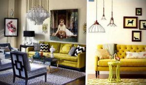 желтый цвет стен в интерьере 09.10.2019 №039 -yellow in interior- design-foto.ru