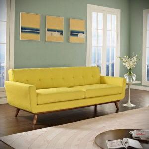 желтый цвет стен в интерьере 09.10.2019 №045 -yellow in interior- design-foto.ru