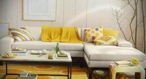 желтый цвет стен в интерьере 09.10.2019 №050 -yellow in interior- design-foto.ru