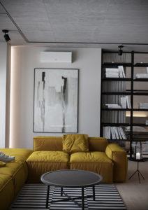 желтый цвет стен в интерьере 09.10.2019 №051 -yellow in interior- design-foto.ru