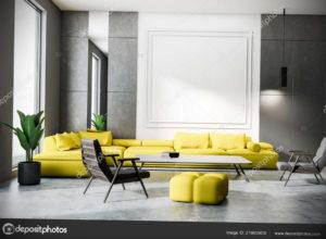 желтый цвет стен в интерьере 09.10.2019 №054 -yellow in interior- design-foto.ru