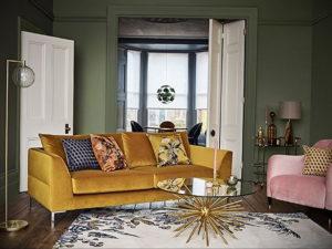 желтый цвет стен в интерьере 09.10.2019 №055 -yellow in interior- design-foto.ru