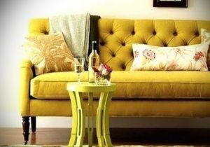 желтый цвет стен в интерьере 09.10.2019 №056 -yellow in interior- design-foto.ru