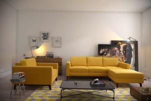 желтый цвет стен в интерьере 09.10.2019 №057 -yellow in interior- design-foto.ru