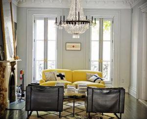 желтый цвет стен в интерьере 09.10.2019 №059 -yellow in interior- design-foto.ru
