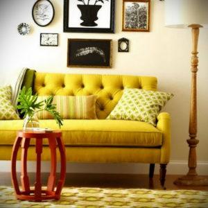желтый цвет стен в интерьере 09.10.2019 №062 -yellow in interior- design-foto.ru