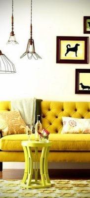 желтый цвет стен в интерьере 09.10.2019 №067 -yellow in interior- design-foto.ru