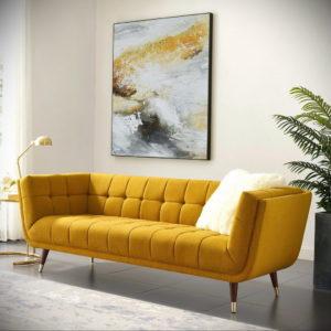 желтый цвет стен в интерьере 09.10.2019 №069 -yellow in interior- design-foto.ru