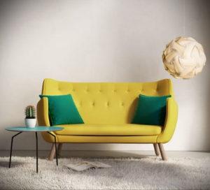 желтый цвет стен в интерьере 09.10.2019 №071 -yellow in interior- design-foto.ru