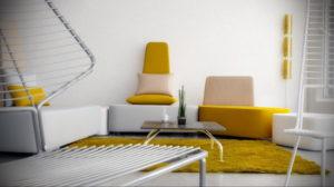 желтый цвет стен в интерьере 09.10.2019 №074 -yellow in interior- design-foto.ru