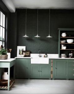 зеленая кухня в интерьере 06.10.2019 №001 -green in the interior- design-foto.ru