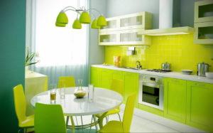 зеленая кухня в интерьере 06.10.2019 №005 -green in the interior- design-foto.ru