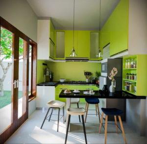 зеленая кухня в интерьере 06.10.2019 №006 -green in the interior- design-foto.ru