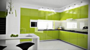 зеленая кухня в интерьере 06.10.2019 №010 -green in the interior- design-foto.ru