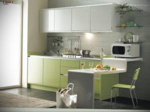 зеленая кухня в интерьере 06.10.2019 №015 -green in the interior- design-foto.ru