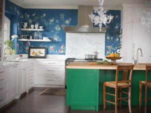 зеленая кухня в интерьере 06.10.2019 №023 -green in the interior- design-foto.ru