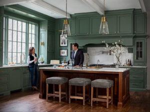 зеленая кухня в интерьере 06.10.2019 №024 -green in the interior- design-foto.ru