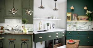 зеленая кухня в интерьере 06.10.2019 №025 -green in the interior- design-foto.ru