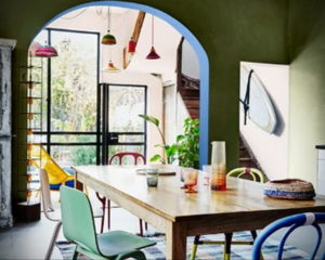 зеленая кухня в интерьере 06.10.2019 №030 -green in the interior- design-foto.ru