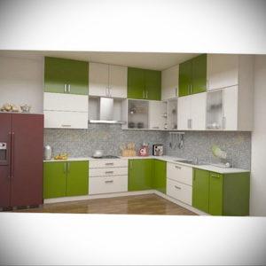 зеленая кухня в интерьере 06.10.2019 №031 -green in the interior- design-foto.ru