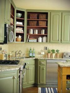 зеленая кухня в интерьере 06.10.2019 №033 -green in the interior- design-foto.ru