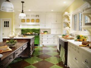 зеленая кухня в интерьере 06.10.2019 №038 -green in the interior- design-foto.ru