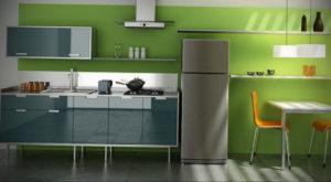 зеленая кухня в интерьере 06.10.2019 №039 -green in the interior- design-foto.ru