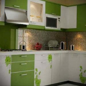 зеленая кухня в интерьере 06.10.2019 №042 -green in the interior- design-foto.ru