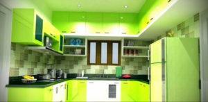 зеленая кухня в интерьере 06.10.2019 №050 -green in the interior- design-foto.ru