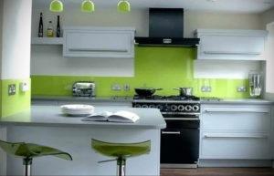 зеленая кухня в интерьере 06.10.2019 №052 -green in the interior- design-foto.ru