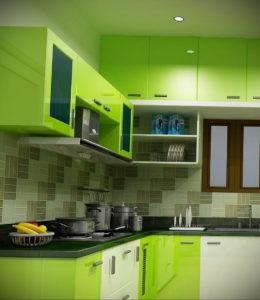 зеленая кухня в интерьере 06.10.2019 №053 -green in the interior- design-foto.ru