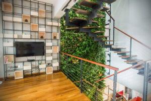 зеленая стена в интерьере 06.10.2019 №008 -green in the interior- design-foto.ru