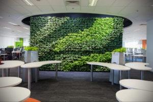 зеленая стена в интерьере 06.10.2019 №012 -green in the interior- design-foto.ru