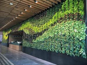 зеленая стена в интерьере 06.10.2019 №014 -green in the interior- design-foto.ru