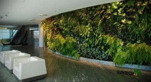 зеленая стена в интерьере 06.10.2019 №015 -green in the interior- design-foto.ru