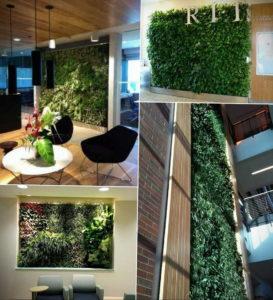 зеленая стена в интерьере 06.10.2019 №016 -green in the interior- design-foto.ru