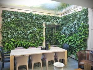 зеленая стена в интерьере 06.10.2019 №017 -green in the interior- design-foto.ru
