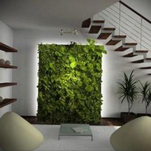 зеленая стена в интерьере 06.10.2019 №018 -green in the interior- design-foto.ru