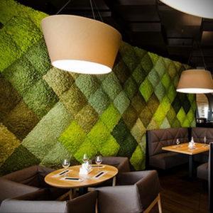 зеленая стена в интерьере 06.10.2019 №019 -green in the interior- design-foto.ru