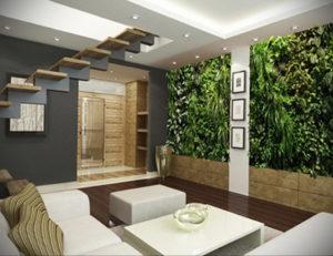 зеленая стена в интерьере 06.10.2019 №021 -green in the interior- design-foto.ru