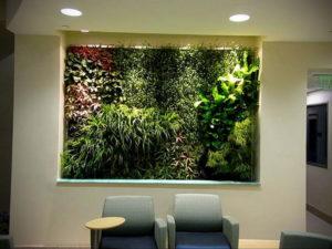 зеленая стена в интерьере 06.10.2019 №026 -green in the interior- design-foto.ru