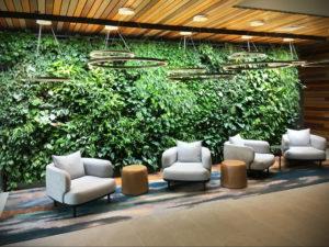 зеленая стена в интерьере 06.10.2019 №035 -green in the interior- design-foto.ru