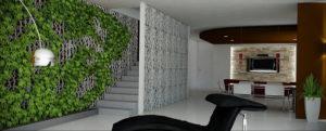 зеленая стена в интерьере 06.10.2019 №039 -green in the interior- design-foto.ru
