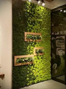 зеленая стена в интерьере 06.10.2019 №040 -green in the interior- design-foto.ru
