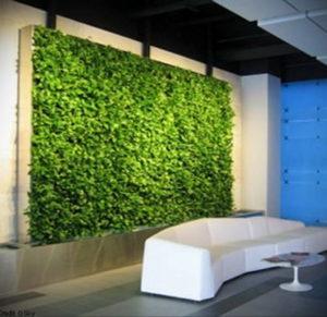 зеленая стена в интерьере 06.10.2019 №043 -green in the interior- design-foto.ru