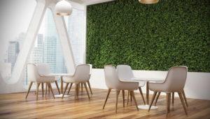 зеленая стена в интерьере 06.10.2019 №048 -green in the interior- design-foto.ru