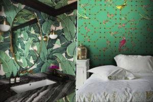 зеленые обои в интерьере 06.10.2019 №001 -green in the interior- design-foto.ru