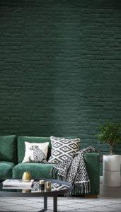 зеленые обои в интерьере 06.10.2019 №002 -green in the interior- design-foto.ru