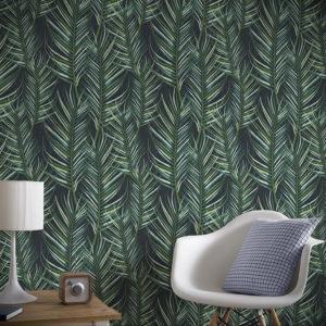 зеленые обои в интерьере 06.10.2019 №004 -green in the interior- design-foto.ru