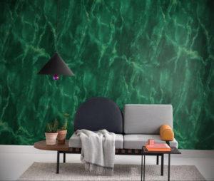 зеленые обои в интерьере 06.10.2019 №005 -green in the interior- design-foto.ru